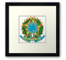 Brazilian Coat of Arms If you like, please purchase, try a cell phone cover thanks Framed Print
