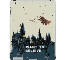 I Want To Believe - Hogwarts iPad Case/Skin