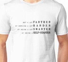 Got a lot farther [black] Unisex T-Shirt