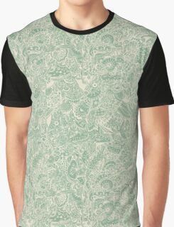 Extremely detailed zentangle inspired pattern, green Graphic T-Shirt
