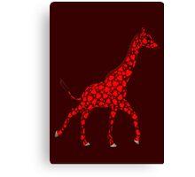 Weird Red Giraffe Canvas Print