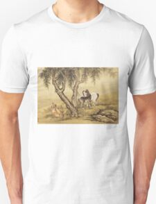 Shen Nanpin - Album Of Birds And Animals (Horses). Forest view: forest , trees,  fauna, nature, birds, animals, flora, flowers, plants, field, weekend Unisex T-Shirt