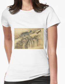 Shen Nanpin - Album Of Birds And Animals (Qilin). Forest view: forest , trees,  fauna, nature, birds, animals, flora, flowers, plants, field, weekend Womens Fitted T-Shirt