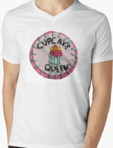 Cupcake Queen Mens V-Neck T-Shirt