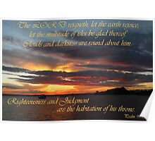 God's Throne - Psalm 97:1,2 Poster