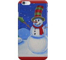 Snowman on Canvas  iPhone Case/Skin