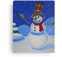 Snowman on Canvas  Canvas Print