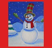 Snowman on Canvas  Unisex T-Shirt
