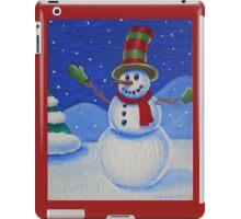 Snowman on Canvas  iPad Case/Skin