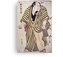 Sumo-E  Ukiyo - Prints Of Sumo Wrestler Kashiwado Sogoro 1762. Man portrait: man,  people,  sport,  sumo,  traditional,  wrestler,  wrestling,  fat,  overweight,  rice,  sport Canvas Print