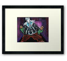 Blue Faced Clown Framed Print