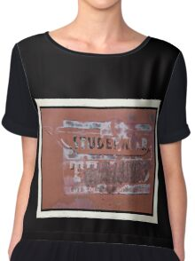Towing Sign Print Or Poster Chiffon Top