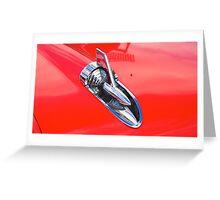 Chevrolet Bonnet Spear Greeting Card