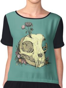 Little Skull Colour Chiffon Top
