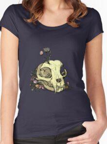 Little Skull Colour Women's Fitted Scoop T-Shirt