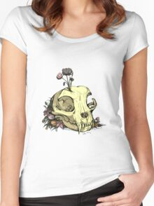 Little Skull Colour Women's Fitted Scoop T-Shirt