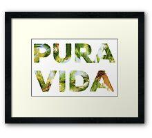 Pura Vida Costa Rica Palm Trees Framed Print