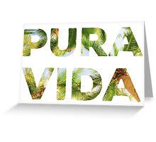 Pura Vida Costa Rica Palm Trees Greeting Card