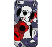 Cool Artistic Old English Sheepdog Playing Guitar Abstract iPhone Case/Skin