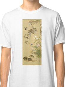 Suzuki Kiitsu - Birds And Flowers. Forest view: forest , trees,  fauna, nature, birds, animals, flora, flowers, plants, field, weekend Classic T-Shirt