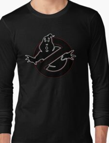 °MOVIES° GhostBusters Neon LOGO Long Sleeve T-Shirt