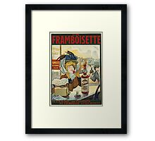 Tamagno - Framboisette Poster. Cafe view: drinking and eating party, woman and man, people, family, female and male, peasants, cafe, romance, women and men, restaurant, food Framed Print