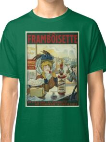Tamagno - Framboisette Poster. Cafe view: drinking and eating party, woman and man, people, family, female and male, peasants, cafe, romance, women and men, restaurant, food Classic T-Shirt