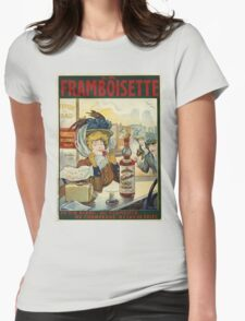 Tamagno - Framboisette Poster. Cafe view: drinking and eating party, woman and man, people, family, female and male, peasants, cafe, romance, women and men, restaurant, food Womens Fitted T-Shirt