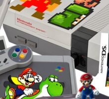 Super Mario Evolution, includes most consoles and mario figures Sticker