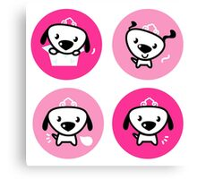 Little dog pink Princess collection Canvas Print