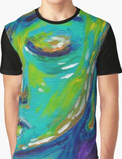 CONTEMPLATION - Acrylic on Canvas Graphic T-Shirt