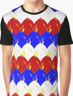 Red White & Blue Dragon Scales Graphic T-Shirt