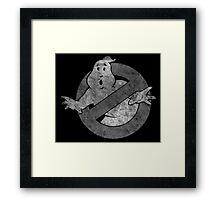 °MOVIES° GhostBusters B&W LOGO Framed Print