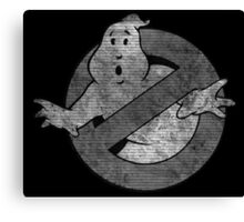 °MOVIES° GhostBusters B&W LOGO Canvas Print