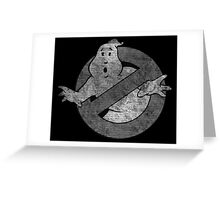 °MOVIES° GhostBusters B&W LOGO Greeting Card