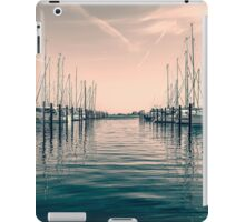 sailing ships in the harbor iPad Case/Skin