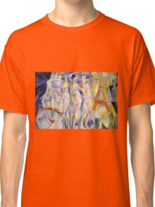 Robert Delaunay - La Ville De Paris. Abstract painting: abstraction, geometric, Nude Woman, composition, lines, forms, creative fusion, music, kaleidoscope, illusion, fantasy future Classic T-Shirt