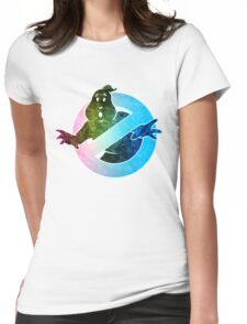 °MOVIES° GhostBusters Rainbow LOGO Womens Fitted T-Shirt