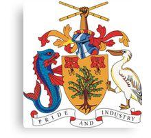 Barbados Coat of Arms Canvas Print