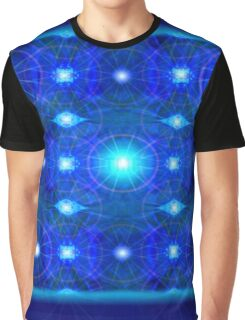 Blue Polyflare Graphic T-Shirt