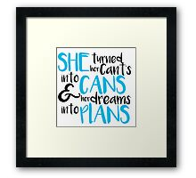 Dream Bigger Framed Print