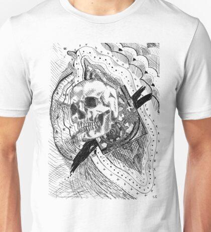Time- Skull Engraving Unisex T-Shirt