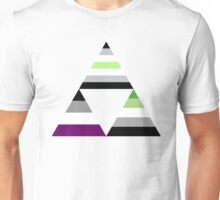 Agender Asexual Aromantic Triforce Unisex T-Shirt