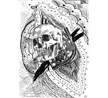 Time- Skull Engraving Photographic Print
