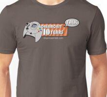 Dreamcast Talk 10th Anniversary Blue Swirl Unisex T-Shirt