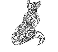 Tribal Wolf by Marissa Falk-Varcoe