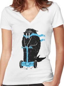 Easy Ridin' Walrus Women's Fitted V-Neck T-Shirt