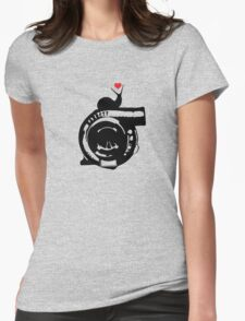 Snail love Womens Fitted T-Shirt