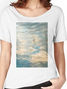 Blue sky reflections in a lake  Women's Relaxed Fit T-Shirt