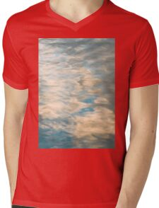 Blue sky reflections in a lake  Mens V-Neck T-Shirt